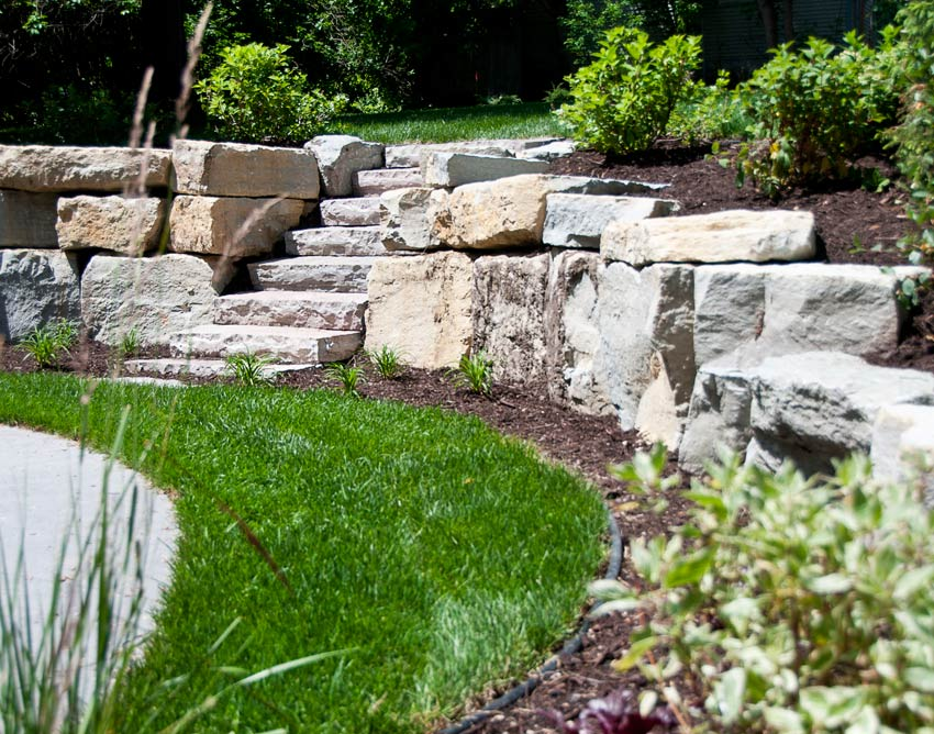 Natural Limestone Walls : Natural limestone retaining wall mediabin